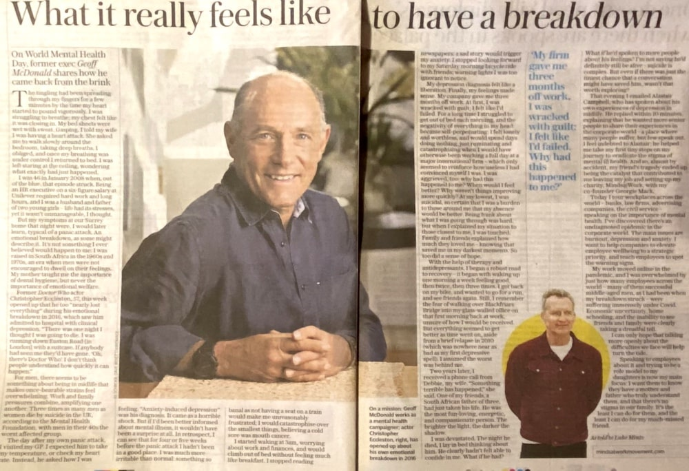 Mental Health article in The Telegraph