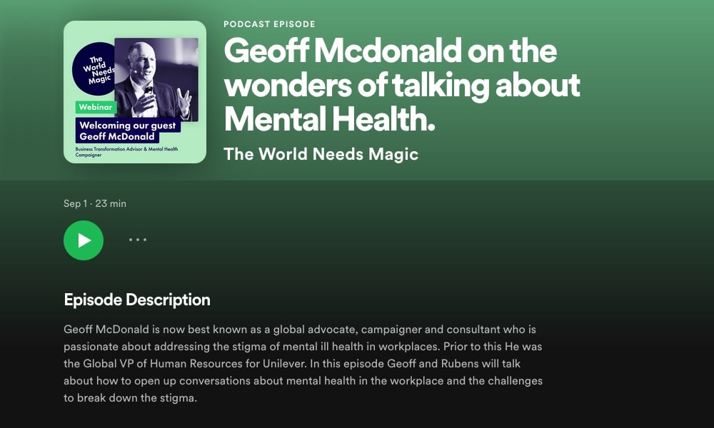 Geoff McDonald Spotify podcast splash screen