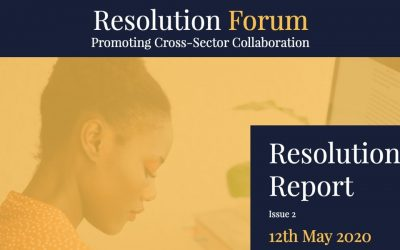 Report from The Resolution Forum – Promoting Cross-Sector Collaboration